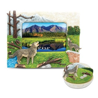 Home Decor Value Pack Wolf Resin Stone collection - Set of 2