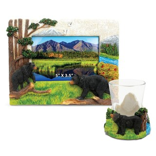 Home Decor Value Pack Black Bear Resin Stone collection - Set of 2