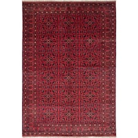 eCarpetGallery Hand-knotted Finest Khal Mohammadi Brown Wool Rug - 6'7 x 9'8