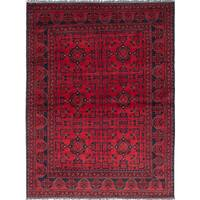 eCarpetGallery Finest Khal Mohammadi Red Wool Hand-knotted Rug (5'7 x 7'5)