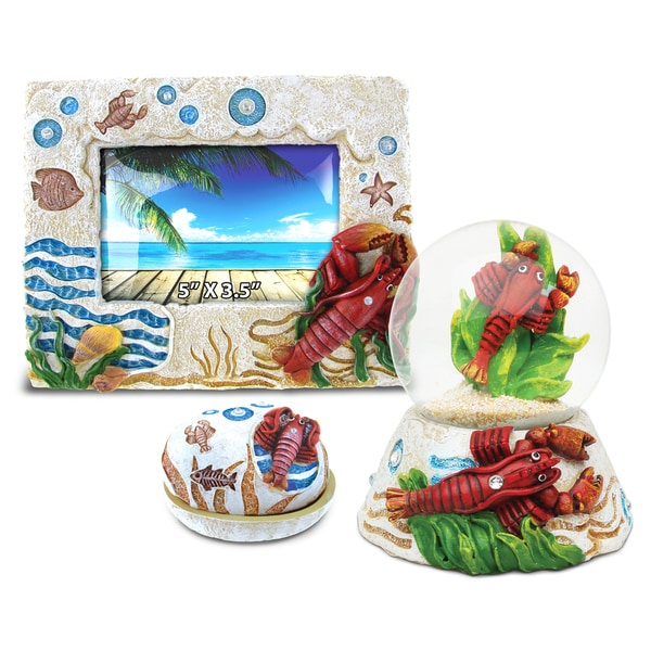 Home Decor Value Pack Lobster Resin Stone Collection Set Of 3 Free Shipping On Orders Over