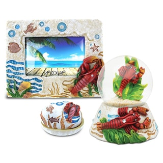 Home Decor Value Pack Lobster Resin Stone collection - Set of 3