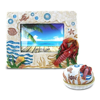 Home Decor Value Pack Lobster Resin Stone collection - Set of 2