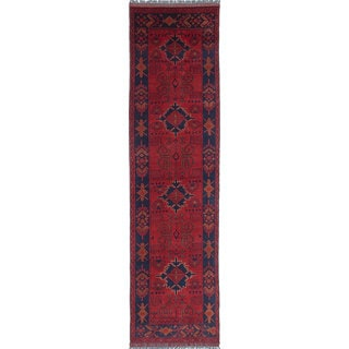 eCarpetGallery Finest Khal Mohammadi Red Wool Hand-knotted Rug (2'5 x 9'3)