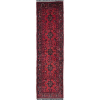 eCarpetGallery Khal Mohammadi Red Wool Hand-knotted Runner Rug - 2'8 x 9'8