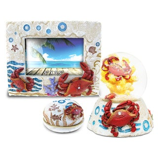 Home Decor Value Pack Crab Resin Stone collection - Set of 3