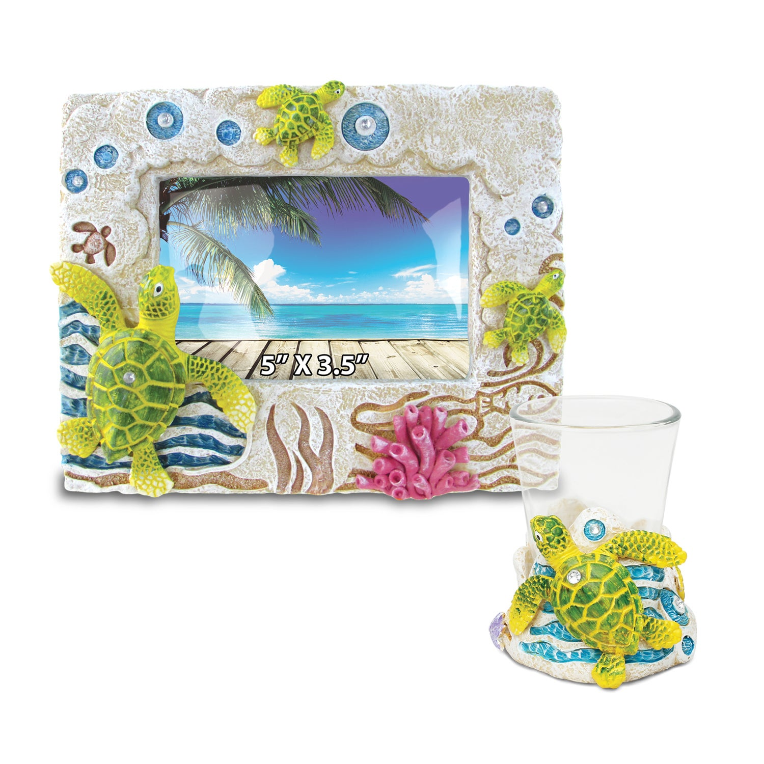 Puzzled Home Decor Value Pack Sea Turtle Resin Stone coll...