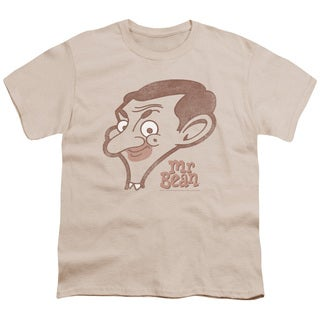 Mr Bean/Cartoon Head Short Sleeve Youth 18/1 in Cream