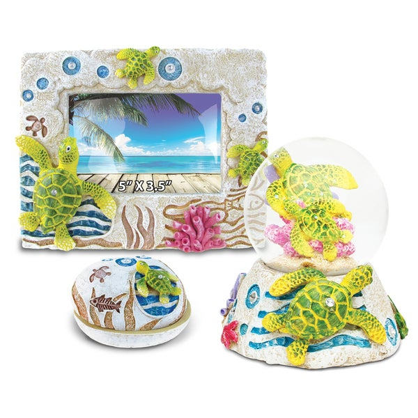 Home Decor Value Pack Sea Turtle Resin Stone collection - Set of 3