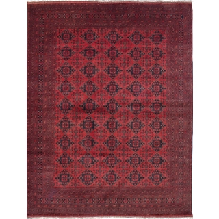 eCarpetGallery Khal Mohammadi Red Wool Hand-knotted Rug (9'11 x 13'1)