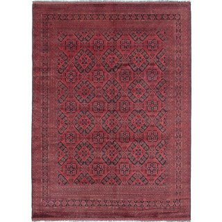 eCarpetGallery Finest Khal Mohammadi Red Wool Hand-Knotted Traditional Rug (8'7 x 11'8)