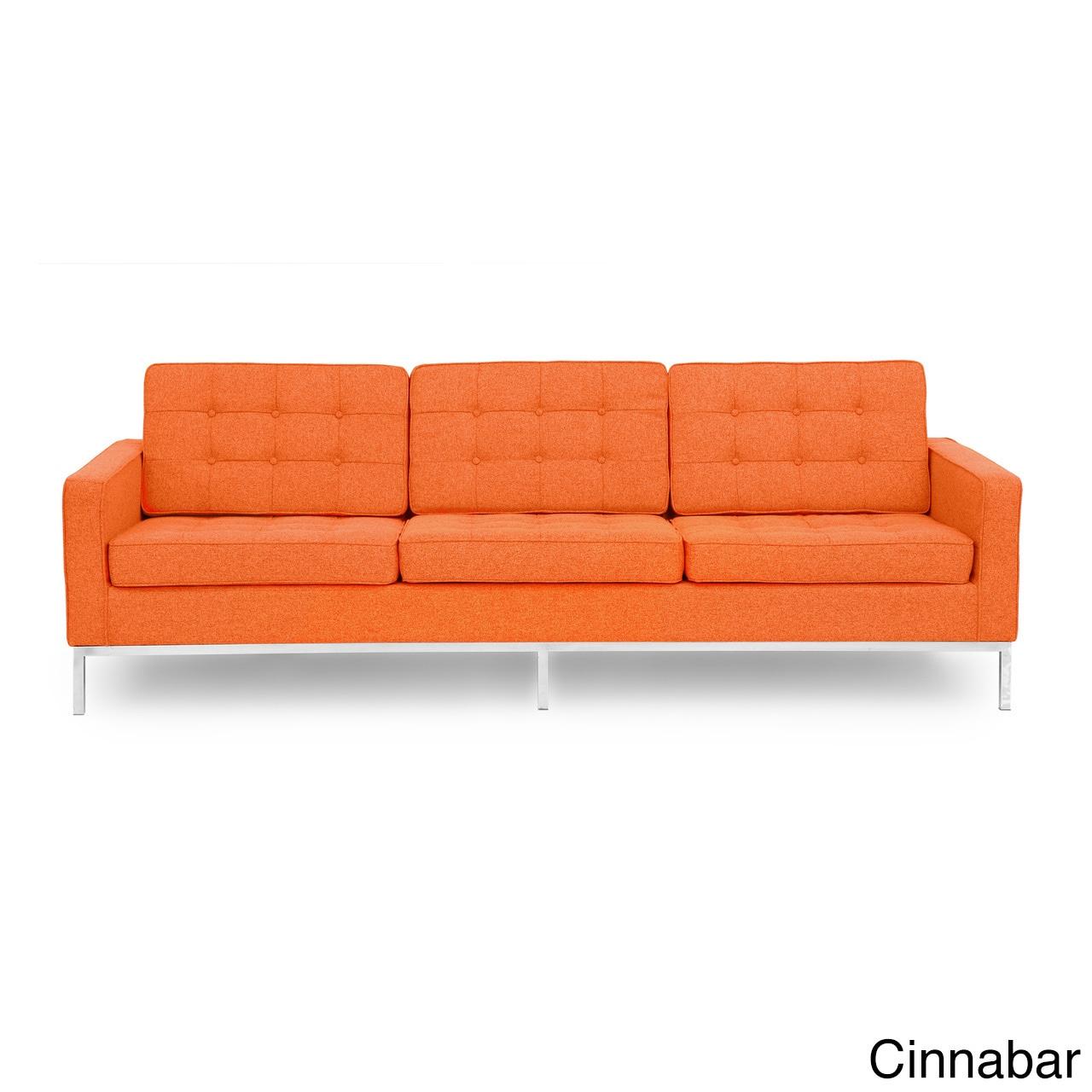 kardiel florence knoll style sofa 3 seat premium fabric. Black Bedroom Furniture Sets. Home Design Ideas