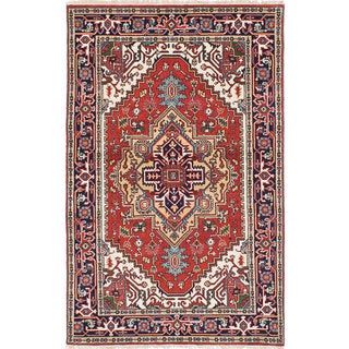 eCarpetGallery Serapi Heritage Red Hand-Knotted Wool Rug (5' x 8')