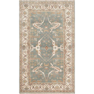 eCarpetGallery Royal Ushak Blue Wool Hand-knotted Rug (4'9 x 8'0)