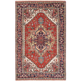 eCarpetGallery Brown Wool Hand-knotted Serapi Heritage Rug (4'11 x 7'9)