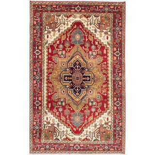 eCarpetGallery Hand-knotted Serapi Heritage Red Wool Rug (5'0 x 8'1)