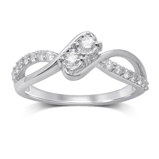 Unending Love 14k White Gold Diamond Ring