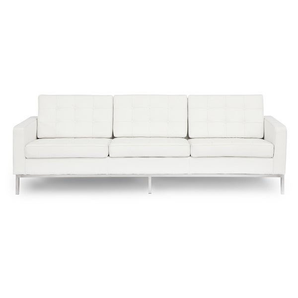 Kardiel Florence Knoll Style Genuine Standard Leather 3 Seat Sofa