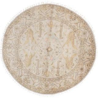 eCarpetGallery Royal Ushak Yellow Hand-knotted Wool Rug (7' x 7')
