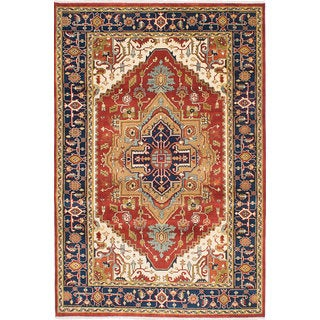 eCarpetGallery Serapi Heritage Brown Wool Hand-Knotted Rug (6' x 9')