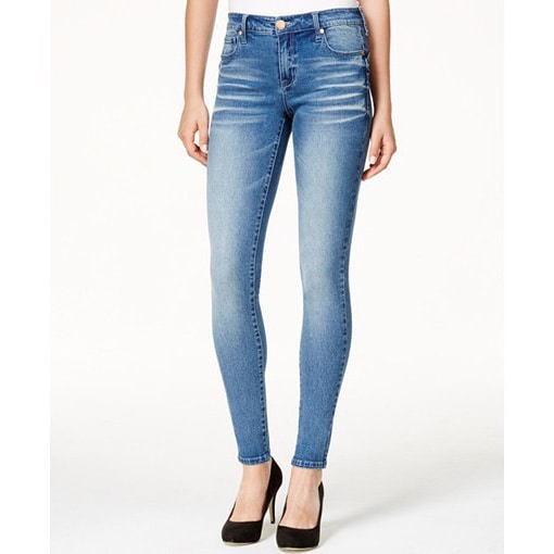 3061cccf Shop Celebrity Pink Women's Blue Cotton and Spandex Denim Skinny Jeans -  Free Shipping On Orders Over $45 - Overstock - 12815903