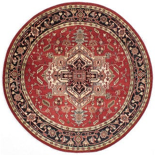 eCarpetGallery Serapi Heritage Red Wool Hand-knotted Rug (8' x 8')