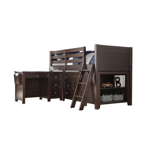 Espresso Lacey Youth Twin Loft Bed