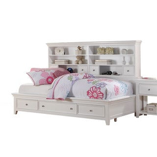 Lacey White Storage Daybed