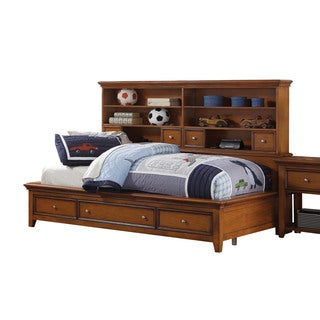 Cherry Oak Lacey Storage Daybed