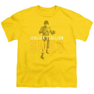MGM/Rocky/Stallion Swag Short Sleeve Youth 18/1 in Yellow