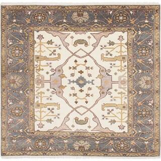 eCarpetGallery Royal Ushak Ivory Wool Hand-knotted Rug (6'3 x 6'0)