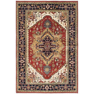 eCarpetGallery Serapi Heritage Red Hand-knotted Wool Rug (6' x 8')