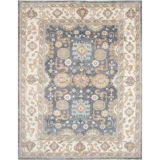 eCarpetGallery Royal Ushak Grey Wool Hand-knotted Rug (9'3 x 11'11)