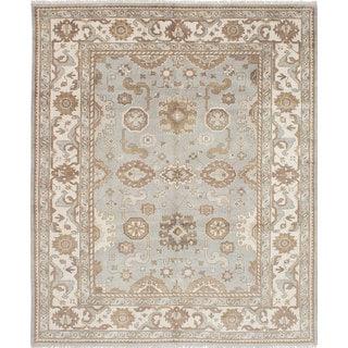 eCarpetGallery Royal Ushak Blue Wool Hand-Knotted Rug (8'2 x 9'10)