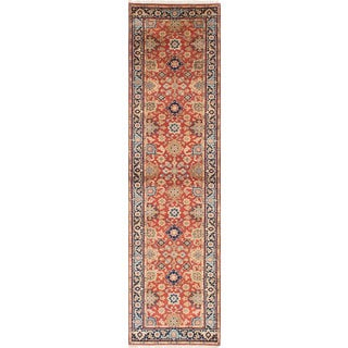 eCarpetCallery Serapi Heritage Brown Hand-knotted Wool Rug (2'8 x 10'0)