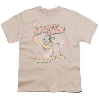 Mighty Mouse/Saved My Day Short Sleeve Youth 18/1 in Cream