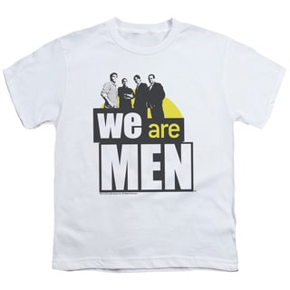 We Are Men/Logo Short Sleeve Youth 18/1 in White