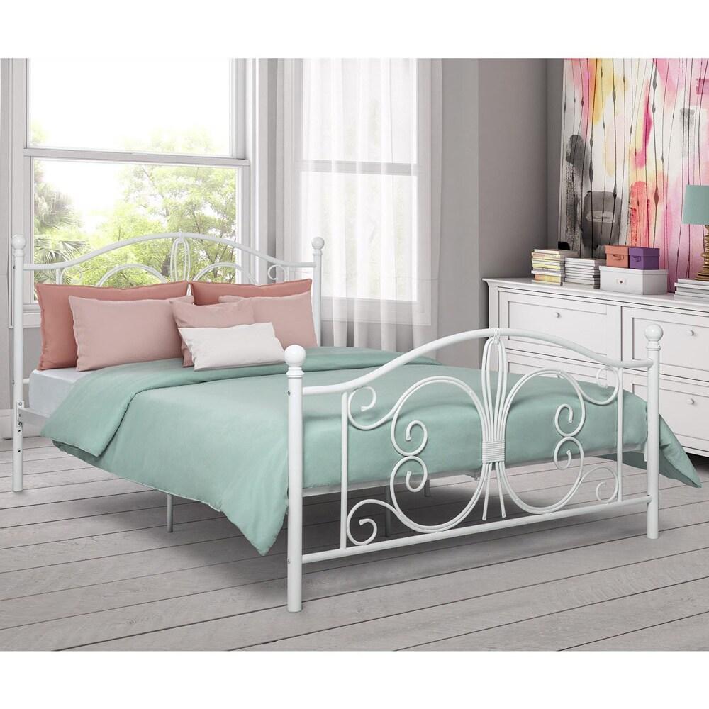 DHP Bombay Full Metal Bed (Full, white)