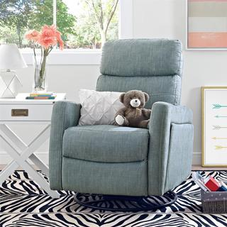 Baby Relax Alexis Dove Grey Swivel Gliding Recliner
