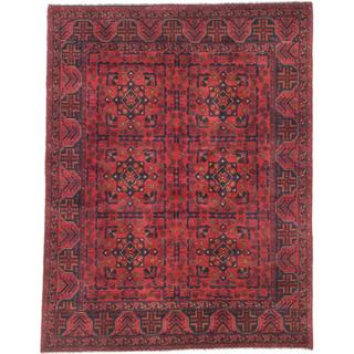 eCarpetGallery Finest Khal Mohammadi Red Wool Hand-knotted Oriental Area Rug (4'11 x 6'4)