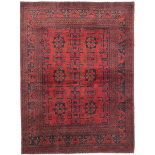 eCarpetGallery Finest Khal Mohammadi Red Wool Hand-Knotted Rug (4'11 x 6'6)