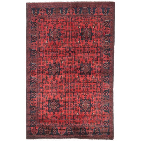 eCarpetGallery Finest Khal Mohammadi Red Wool Hand-knotted Oriental Area Rug (4'2 x 6'5)