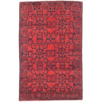 eCarpetGallery Finest Khal Mohammadi Red Hand-knotted Wool Rug (4'0 x 6'4)