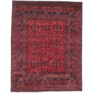 eCarpetGallery Finest Khal Mohammadi Red Wool Hand-knotted Rug (5'0 x 6'5)