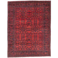 eCarpetGallery Finest Khal Mohammadi Red Wool Hand-knotted Rug (5'0 x 6'6)