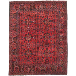 eCarpetGallery Khal Mohammadi Red Hand-knotted Wool Rug (5' x 6')