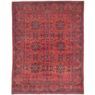eCarpetGallery Khal Mohammadi Red Wool Hand-knotted Rug (5'0 x 6'5)