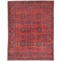 eCarpetGallery Khal Mohammadi Red Wool Hand-knotted Rug (5'0 x 6'5) - 5'0 x 6'5
