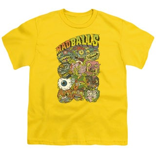Madballs/Stack Em Short Sleeve Youth 18/1 in Yellow