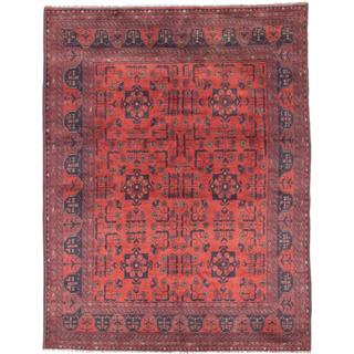 eCarpetGallery Khal Mohammadi Red Wool Hand-knotted Rug (4'11 x 6'4)